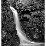 Upper Falls in Black & White
